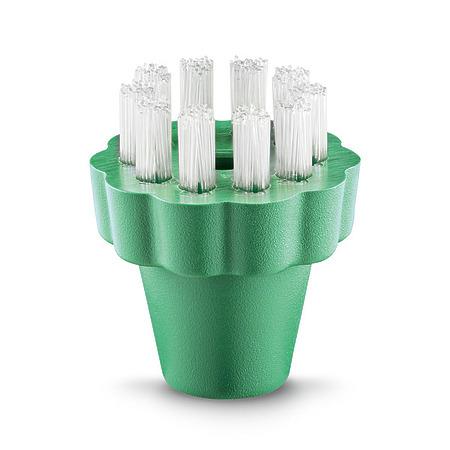 Круглая щетка из пекалона, зеленая | 6.907-588.0